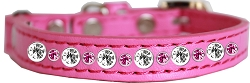 Posh Jeweled Cat Collar Bright Pink Size 10